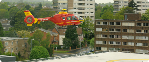 Helipad at Queen Elizabeth Hospital Birmingham