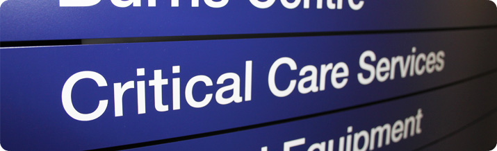 Photo of a critical care service sign